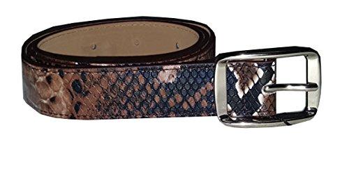 SPARKLES Gorgeous Marrón Serpiente Imprimir Cintura Cinturón. Perfecto para primavera y verano.