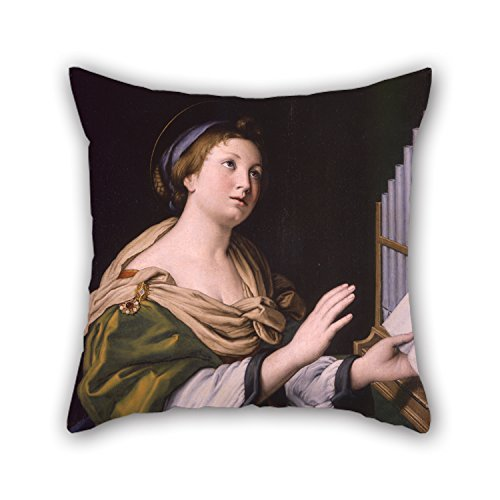 beautifulseason 20 X 20 Inches/50 by 50 cm Oil Painting Giovan Battista Salvi Called Il Sassoferrato - Saint Cecilia Cushion Covers,Double Sides is Fit for Bedding,Adults,Lounge,Office,Dinning Ro