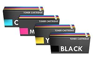 Prestige Cartridge CE320-3A Lot de 4 Cartouches de Toner d'encre pour HP Colour Laserjet CP1525/CP1525N/CP1525NW - Couleurs Assorties