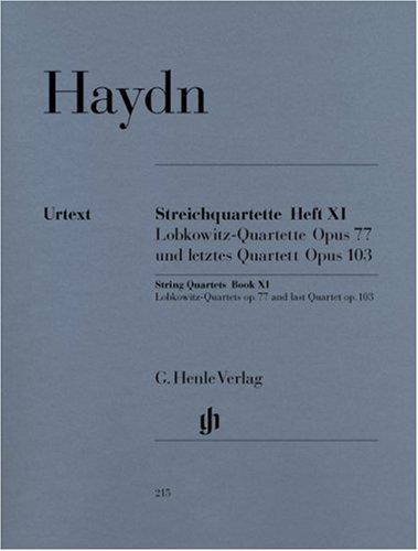 Quatuors Cordes Vol.11 Opus 77/103 --- M...