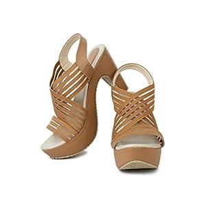 Beauty Queen R DEZINO Bahubali Block Heel Sandal for Women