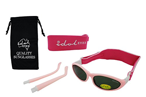 Baby Wrapz 2 Convertible Sunglasses 0-5 Years With 2 Headbands & Attachable Arms (Light Pink)