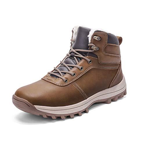 Bottes Hiver Neige Homme Chaussures de Randonnée Imperméable Confortable Chaudes d'hiver Boots