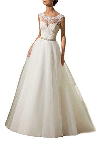 Xuyudita charming a-line organza pizzo appliques abiti da sposa in rilievo abito da sposa avorio-48 plus