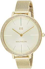 Tommy Hilfiger Womens Quartz Watch, Analog Display and Stainless Steel Strap 1782114
