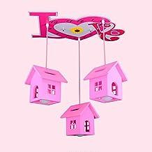 CHHHC ** - Creative Chalet Romantique Chalet Princess Room Éclairage Chambre à coucher enfant Lampe LED Cartoon Lustre Chaleur