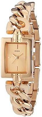 Guess W0437L3 - Reloj con correa de metal multicolor, para mujer, esfera de color dorado