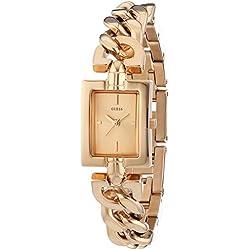 Guess W0437L3 - Reloj con correa de metal, mujer, esfera de color dorado