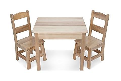 Melissa & Doug 12427 Wooden Table & Chairs Set