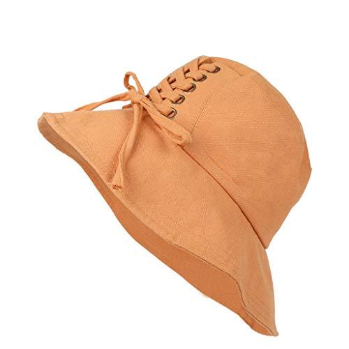 CANDLE Hut Damen, Mode Damen Floppy Faltbare Damen Mädchen Stroh Strand Sonne Sommer Hut Kopfschmuck ()