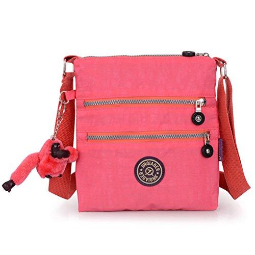 Honeymall borse a spalla borsa a tracolla muliti tasche borsetta le donne casuale multi tasca Borsa a tracolla impermeabile Viola Dentellare