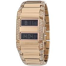 Esprit 4418484 - Reloj digital de mujer de cuarzo con correa de acero inoxidable dorada