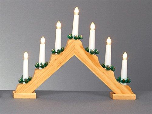 Premier 31 centimetri led 7 lampadina candela ponte di pino finitura bianco caldo pile
