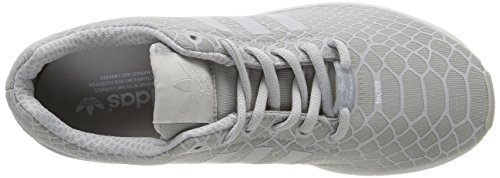 adidas Zx Flux Techfit, Baskets Basses homme Gris (Clear/Clear/Super Yellow)