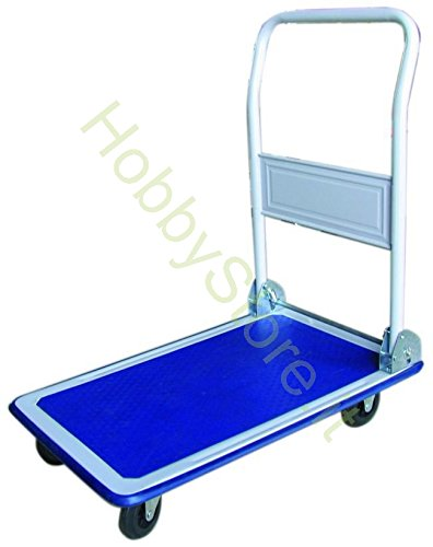 Vigor 59709-10 Trolley with Flat Bed and 4 Wheels, 150 kg