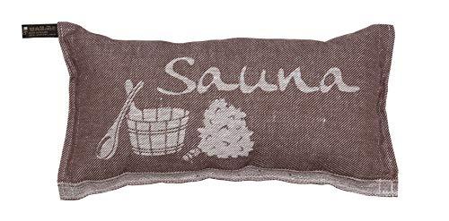 JOKIPIIN | Saunakissen und Reisekissen SAUNA, Leinen natur/braun, made in Finland