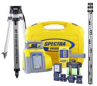Spectra Precision ll300N Deluxe Kit livella laser misuratore di distanza con rilevatore hr320, 70m, 2,4m, personale, rilevamento treppiede e certificato di taratura