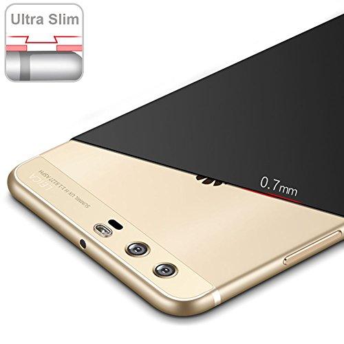 Huawei P10 5,1 Zoll Hülle, MSVII® Sehr Dünn Hülle Schutzhülle Case Und Displayschutzfolie für Huawei P10 5,1 Zoll - Lila JY00235 Lila