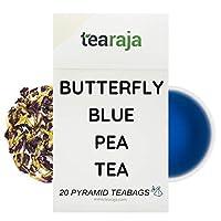 Blue Tea | Magical Herbal Tea | Butterfly Pea Tea | No Caffeine | Full of Antioxidant | 20 Pyramid Tea Bags |