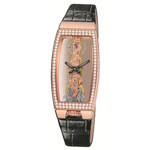 Corum 113.102.85–00010000–Orologio da donna, cinturino in pelle colore nero