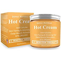 Body Naturals Hot Cream for Cellulite Reduction, Skin Toning and Slimming, Deep Muscle Relaxation, 8.8 Ounce