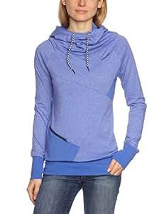 Ragwear Damen Sweatshirt Yoda C, baja blue melange, XS, 20610513 204M