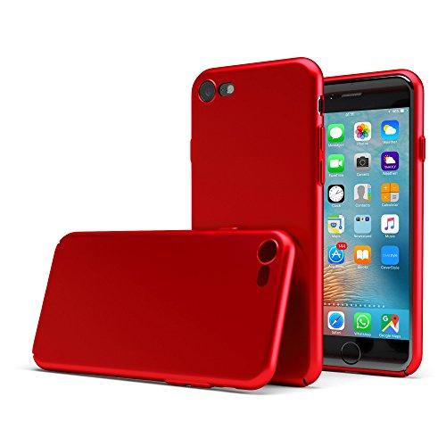 "CoverStyle® Custodia UltraSoft® Sottile 1.0mm Rigida con Effetto Opaco Soft-Touch per iPhone 7 (4.7"") - Rosso Opaco"