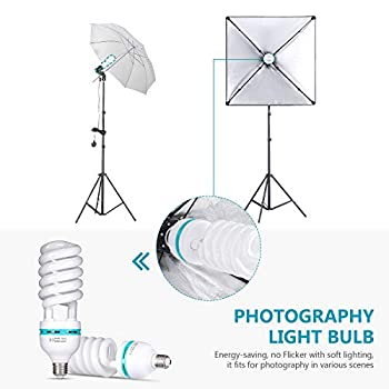 Neewer Complete Photography Lighting Kit: 8.5x10feet Background Support System/800W 5500K Umbrellas Softbox Continuous Lighting Kit/5-in-1 Reflector Disc/Tripod/Phone Holder/Carry Bag for Studio