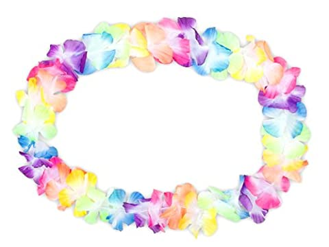 Multi Chain Necklace Hawaii Flower Garlands Pack of 2