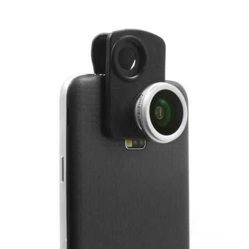 mmerhalterung 180° (0,28x) Fischaugenlinse Fisheye Lens Fisch-Auge Objektiv für iPhone 5S 5 5C 4 4S 3GS 3G iPod Touch 5 4 3 ()