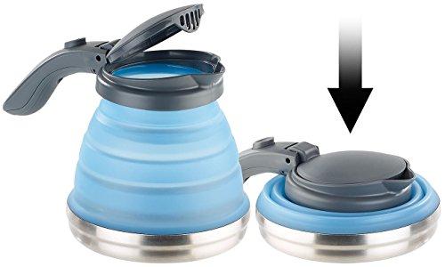 Rosenstein & Söhne Reisewasserkocher: Faltbarer Silikon-Camping-Wasserkessel mit Edelstahlboden, 800 ml (Kocher)