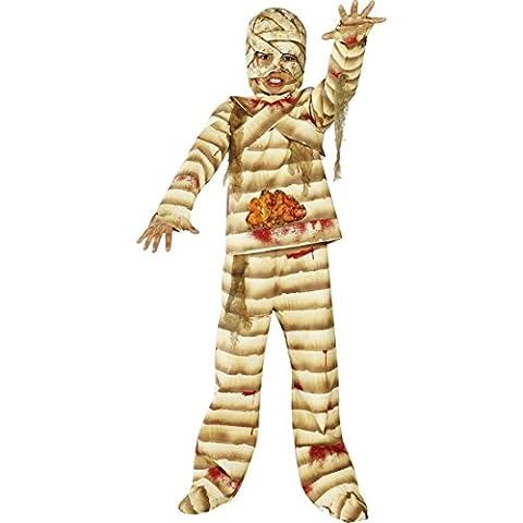 Kinder Kostüm Mumie Kinderkostüm Halloween L - 145-158 cm 10-12 Jahre Zombie Halloweenkostüm Mumienkostüm