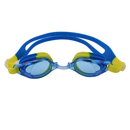 L_shop - Gafas de natación para niños (protección UV, Impermeables, para niños, jóvenes, niños, niños y niños), Color Green Yellow, tamaño As it is Description
