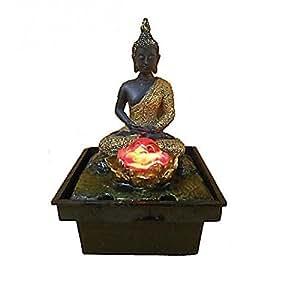 Fontaine bouddha dore