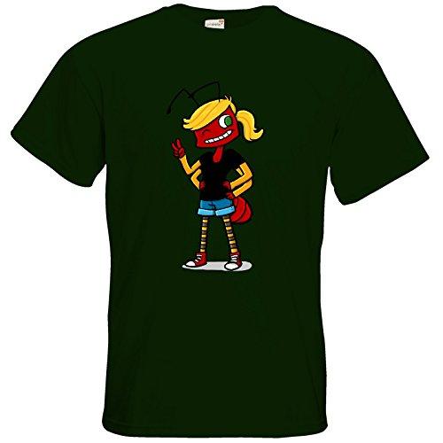 getshirts - Tom Wendels Loot Box - T-Shirt - AntMe! Antoinette Bottle Green