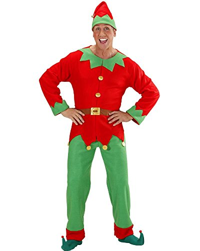Costume Elfo Uomo Aiutante Babbo Natale PS 25839-S
