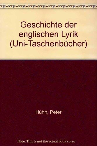 Geschichte der englischen Lyrik. Teil 1