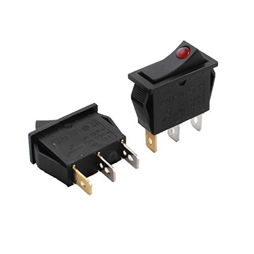 2 stuks 12V Red Light ON / OFF 3-Pin Rectangle Boot Rocker Switch voor in de auto