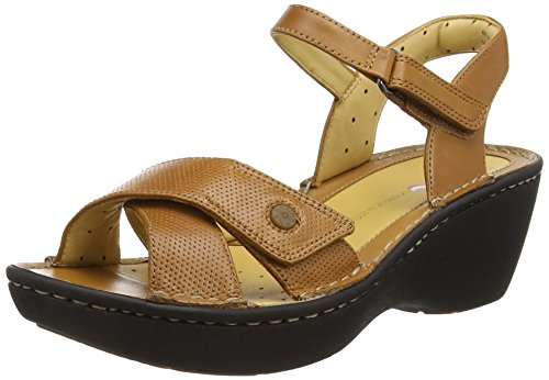 Clarks Un Dima Damen Knöchelriemchen Sandalen Braun (Tan Leather)