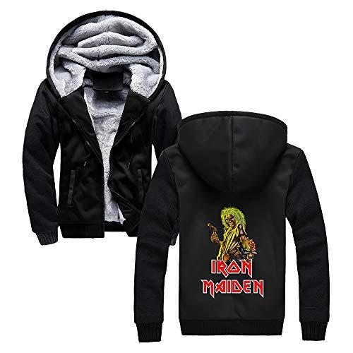 Unisex Iron Maiden Sudaderas Capa popular deporte del Mens, además de terciopelo con capucha Prendas de vestir exteriores de la personalidad Uniforme de béisbol Impreso Iron Maiden Sudaderas con capuc