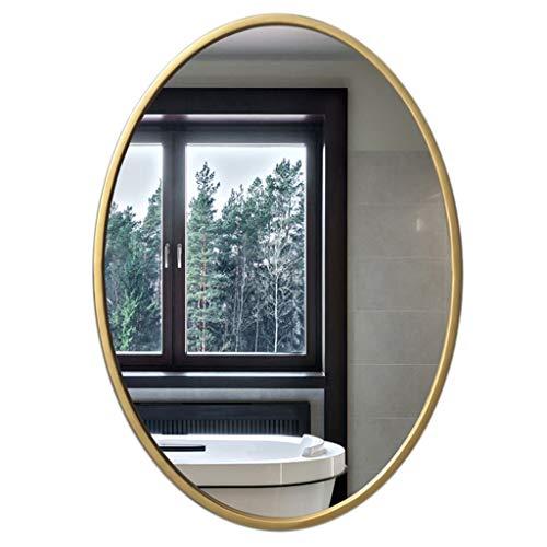 Espejo Ovalado Dorado 50cmx70cm, 60cmx80cm