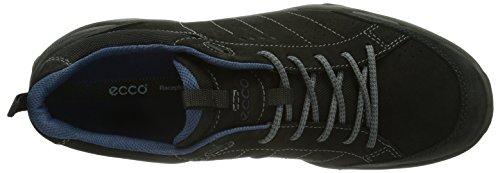 ECCO SIERRA II Herren Outdoor Fitnessschuhe Schwarz (BLACK/BLACK/DENIMBLUE 58143)
