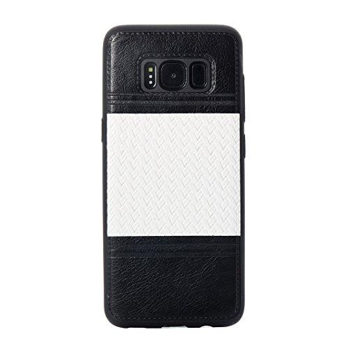 Cover Per Samsung Galaxy S8, Asnlove TPU Moda Morbida Custodia Linee Intrecciate Caso Elegante Ultra Sottile Cassa Braided Stile Tessere Case Bumper Per Samsung Galaxy S8 - Rosa Bianca