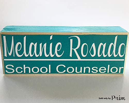r Schreibtisch Name 10x 4(Wählen Sie Farbe) Custom Stand Alone Wood Block Ratgeber Arzt Krankenschwester Lehrer Büro ()