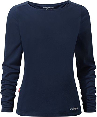 Craghoppers NosiLife Erin Long-Sleeved Top, 16 UK Damen, Night Blue 7NO