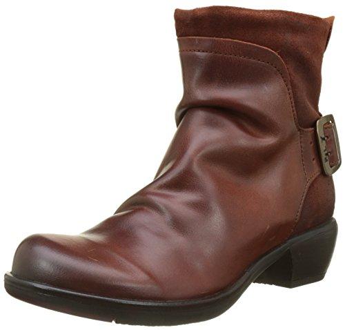 FLY London Mel P141633, Damen Biker Boots, Braun (Brick), 42 EU (9 UK)