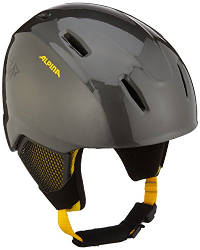 ALPINA Kinder Carat LX Skihelm, Auba-Black-Yellow, 51-55 cm