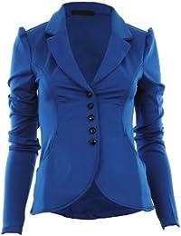 Mardela neuen Frauen 5-Taste Vorderes Ponte Bold Schulter Damen Blazer-Jacken-Mantel