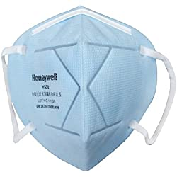 Honeywell E-D7002-BU10-IND PM 2.5 Anti-Pollution Foldable Face Mask, Icy Blue, Pack of 10