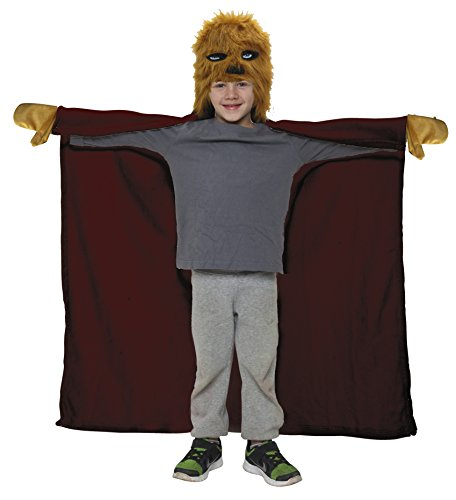 Joy Toy 15704 - Bademantel mit Chewbacca-Kopf als Kapuze, 100 x 100 cm